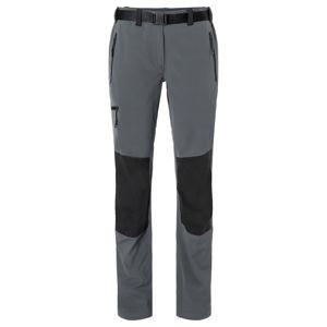 James & Nicholson Dámske trekingové nohavice JN1205 - Tmavě šedá / černá | XXL
