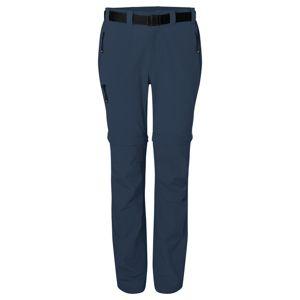 James & Nicholson Dámske outdoorové nohavice s odopínateľnými nohavicami JN1201 - Tmavě modrá | XS