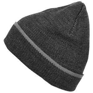 Myrtle Beach Elegantná pletená čiapka MB7117 - Černá / stříbrná