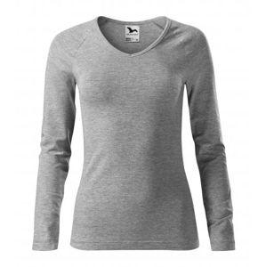 Adler Dámske tričko s dlhým rukávom Elegance - Tmavě šedý melír   S