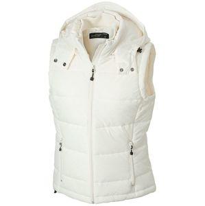 James & Nicholson Dámska zimná vesta s kapucňou JN1005 - Přírodní   XL