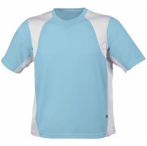 James & Nicholson Pánske športové tričko s krátkym rukávom JN306 - Ocean / bílá | S
