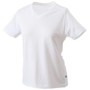 James & Nicholson Dámske športové tričko s krátkym rukávom JN316 - Bílá / bílá | XL