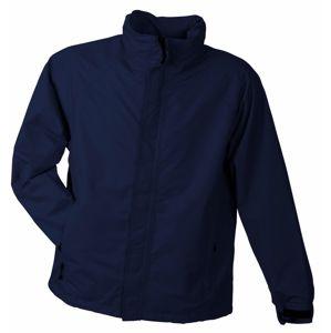 James & Nicholson Pánska outdoorová bunda JN1010 - Tmavě modrá | XL