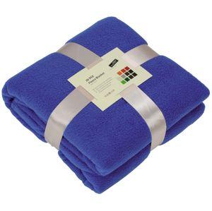 James & Nicholson Fleecová deka 130x170 cm JN950 - Královská modrá | 130 x 170 cm