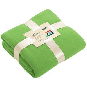 James & Nicholson Fleecová deka 130x170 cm JN950 - Limetkově zelená | 130 x 170 cm