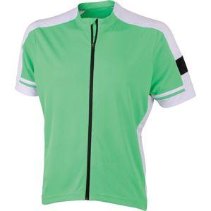 James & Nicholson Pánsky cyklistický dres JN454 - Zelená | XL
