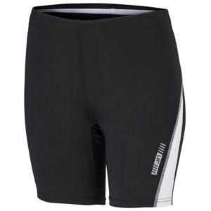 James & Nicholson Dámske bežecké šortky JN477 - Černá / bílá | M