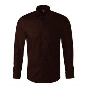 Adler Pánska košeľa s dlhým rukávom Dynamic - Kávová | XL