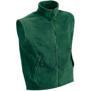 James & Nicholson Pánska fleecová vesta JN045 - Tmavě zelená | XXXL