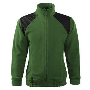 Adler Fleecová mikina Jacket Hi-Q - Lahvově zelená   M