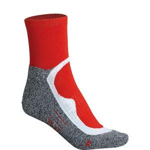 James & Nicholson Športové ponožky členkové JN210 - Červená   42-44