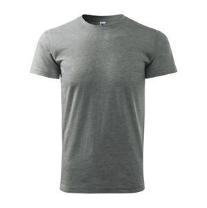 Adler Pánske tričko Basic - Tmavě šedý melír | S