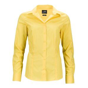 James & Nicholson Dámska košeľa s dlhým rukávom JN641 - Žlutá | XL