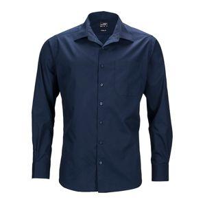 James & Nicholson Pánska košeľa s dlhým rukávom JN642 - Tmavě modrá | XXXXXXL