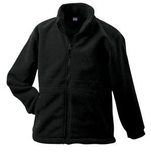 James & Nicholson Detská fleece mikina JN044k - Černá | XL