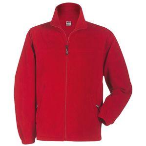 James & Nicholson Detská fleece mikina JN044k - Červená   XS