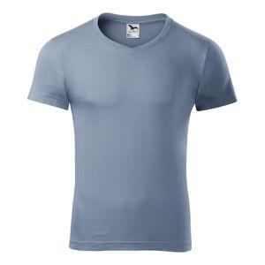 Adler Pánske tričko Slim Fit V-neck - Denim | XXL