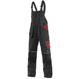 Canis Montérkové nohavice s náprsenkou ORION KRYŠTOF - Černá / červená | 62