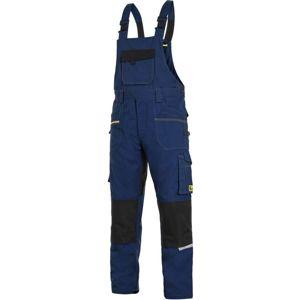 Canis Montérkové nohavice s náprsenkou CXS STRETCH - Tmavě modrá / černá | 58
