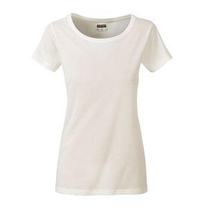 James & Nicholson Klasické dámske tričko z biobavlny 8007 - Přírodní | M