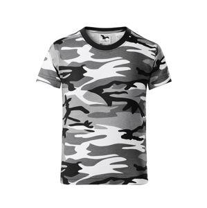 Adler Detské maskáčové tričko Camouflage - Maskáčová šedá   134 cm (8 let)